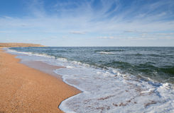 Sea landscape. Seascape photographed on a summer day Stock Photos