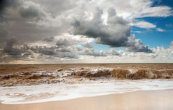 Sea landscape in storm day Royalty Free Stock Photo