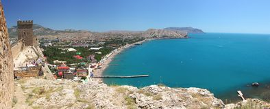 Sea landscape at Sudak Royalty Free Stock Photo