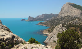 Sea landscape at Sudak Royalty Free Stock Image