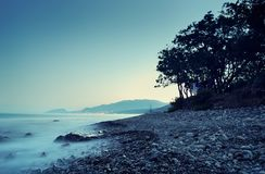 Sea landscape in the summer evening Stock Image