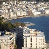 Sea landscape. Summertime in Greece, Loutraki, beach Stock Image