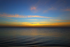 Sea landscape before sunrise Stock Photos