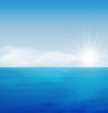 Sea Landscape Sunrise Blue Ocean Stock Photography