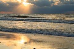 Sea landscape. Sunset, baltic sea landscape, beach Stock Photo