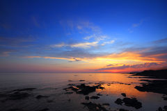 Sea landscape after sunset Royalty Free Stock Image