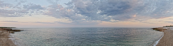 Sea landscape with sunset sky . Stock Photography