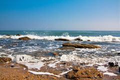 Sea landscape of a wave Stock Photography