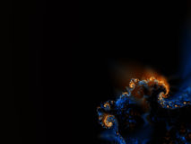 Sea Lava. Fractal rendering of sea lava on the ocean floor Royalty Free Illustration