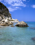 Sea of Lefkada, Greece - Agios Nikitas Stock Photo