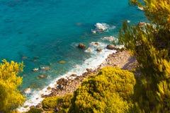 Sea of Lefkada, Greece - Agios Nikitas royalty free stock photos