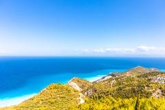 Sea of Lefkada Greece ocean view stock photography