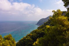 Sea of Lefkada Greece ocean view royalty free stock images