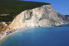 Sea of Lefkada, Greece - Porto Katsiki. Sea of Lefkada, Greece. This is the most famous beach of the island of Lefkada. His name is Porto Katsiki. Legend has it Royalty Free Stock Photos