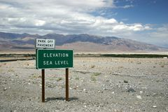 Sea Level. Death Valley National park Stock Photography