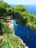Sea level from the cliff. royalty free stock photo