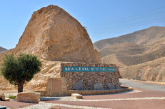 Sea level in desert in Israel. Sea level in desert near Dead sea in Israel stock photography