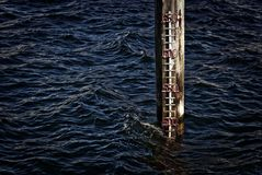 Sea level indicator Royalty Free Stock Photos