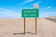 Sea Level Sign Stock Image