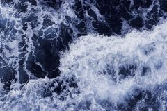 Sea Level View from Above. Ocean Surface with Waves. Ocean Surface with Waves. Sea Level View from Above stock image