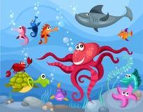 Sea life stock illustration