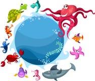 Sea life. Vector illustration of a sea life Royalty Free Stock Photos