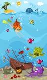 Sea life. Vector Illustration of a sea life Stock Photo