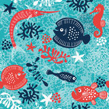 Sea life stock illustration