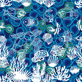 Sea life art. Seamless vector pattern. Royalty Free Stock Images