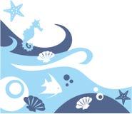 Sea life background Royalty Free Stock Image