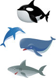 Sea life cartoon Stock Images
