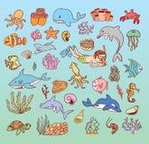 Sea life cartoon doodle,  illustration Royalty Free Stock Images
