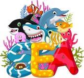 Sea life cartoon Stock Photo