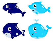 Sea life cartoon set Stock Images