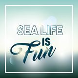 Sea life conceptual poster Royalty Free Stock Image
