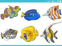 Sea life fish characters set Stock Photo