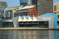 Sea Life Melbourne Aquarium on the banks of the Yarra River Royalty Free Stock Photography