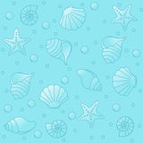 Sea life pattern Stock Photos