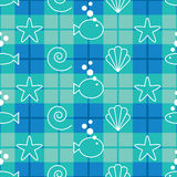 Sea Life Pattern stock photos