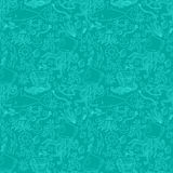Sea life pattern. Seamless summer sea animals texture tiling pattern background Royalty Free Stock Photos