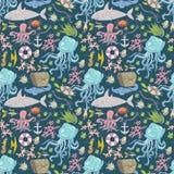 Sea life pattern Stock Photo