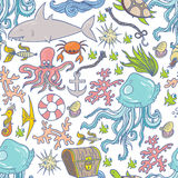 Sea life pattern Royalty Free Stock Image