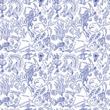 Sea life pattern Stock Images