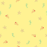 Sea life seamless pattern Royalty Free Stock Photo