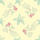 Sea life seamless pattern Royalty Free Stock Image