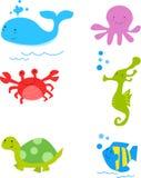 Sea Life Sweeties. ILLUSTRATION ART vector illustration