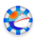 Sea lifebuoy ring vector illustration