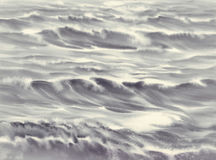 Sea light black and white watercolor. Background Royalty Free Stock Image