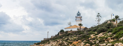 Sea-light of Cullera Royalty Free Stock Images