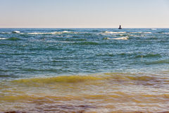 Sea lighthouse in Bulgarian Pomorie Stock Images